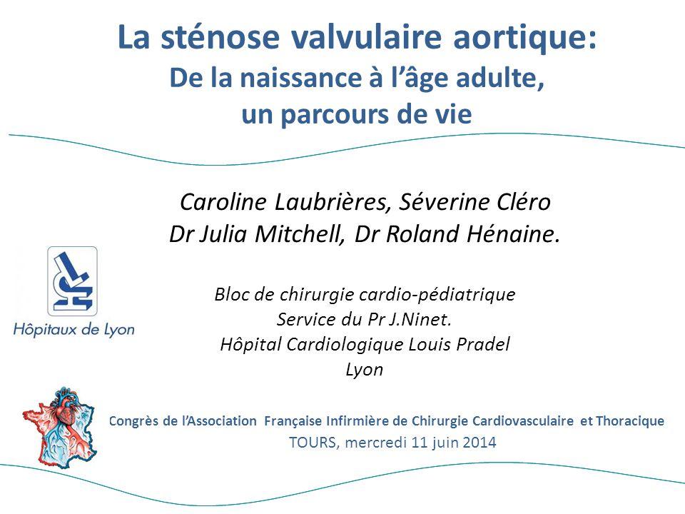 Caroline Laubrières, Séverine Cléro Dr Julia Mitchell, Dr Roland Hénaine. Bloc de chirurgie cardio-pédiatrique Service du Pr J.Ninet. Hôpital Cardiolo