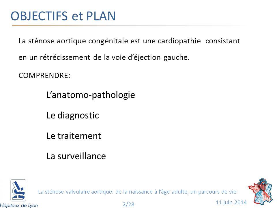 OBJECTIFS et PLAN La sténose aortique congénitale est une cardiopathie consistant en un rétrécissement de la voie d'éjection gauche.