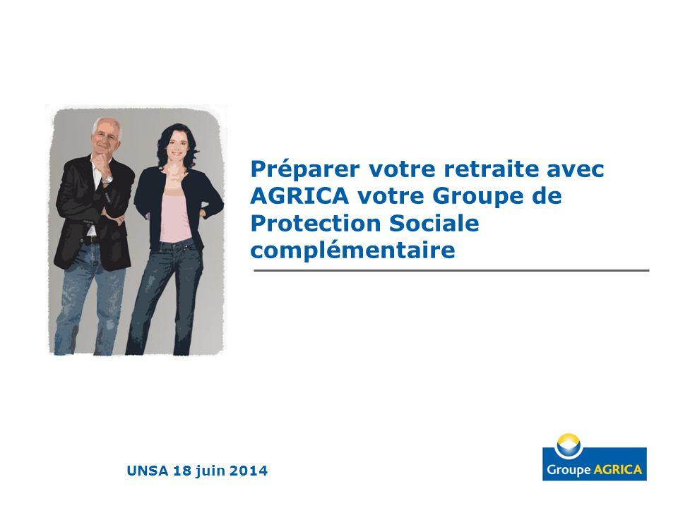 Préparer votre retraite avec AGRICA votre Groupe de Protection Sociale complémentaire UNSA 18 juin 2014