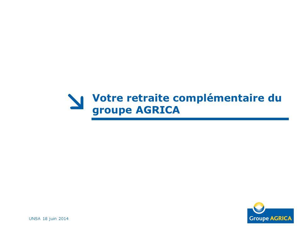 Votre retraite complémentaire du groupe AGRICA UNSA 18 juin 2014