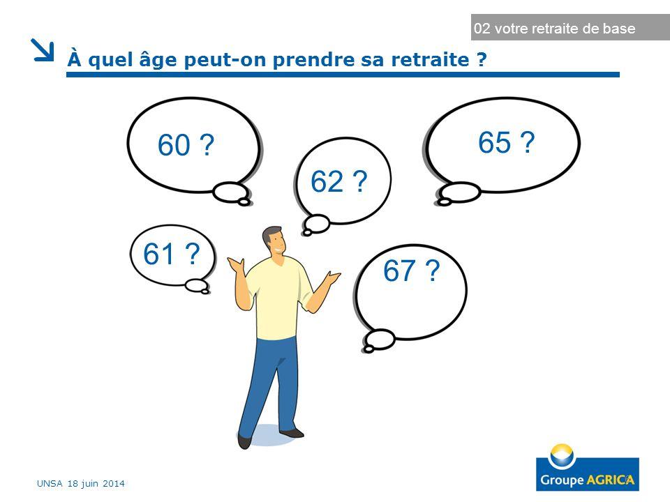 7 Quelques définitions 02 votre retraite de base ► L'âge légal : âge fixé par la loi à partir duquel vous êtes en droit de prendre votre retraite.