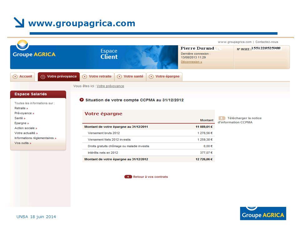 UNSA 18 juin 2014 www.groupagrica.com