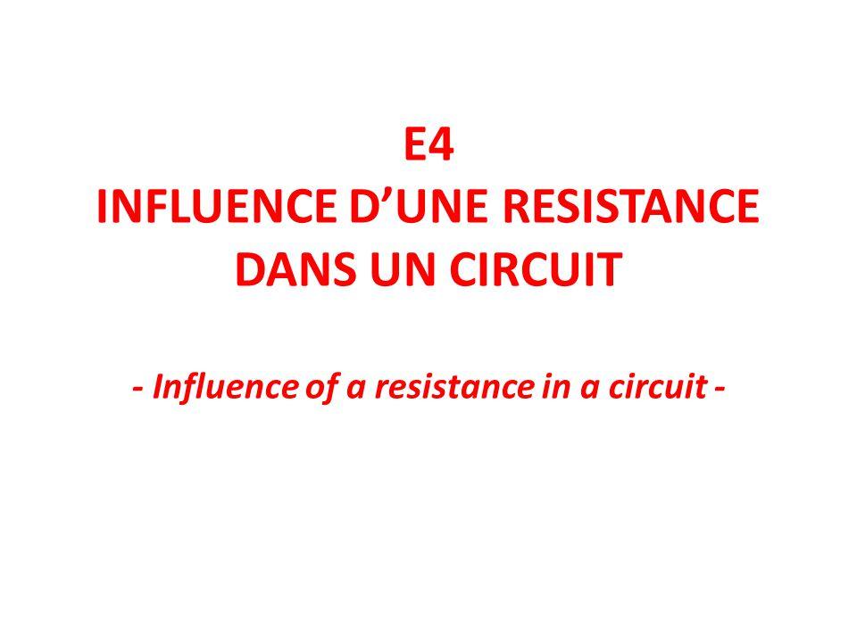 Le résistor (ou résistance)est un dipôle électrique de forme cylindrique.