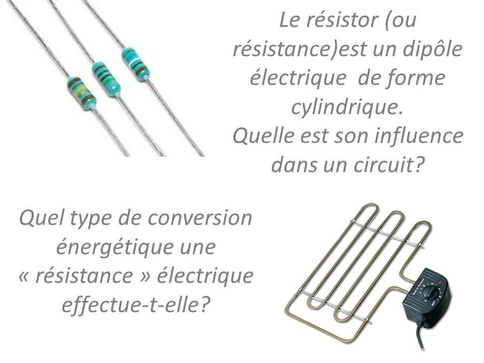 I – Intensité du courant et résistance On mesure l'intensité du courant qui traverse le circuit pour des résistors différents.