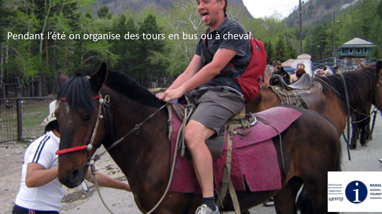 Pendant l'été on organise des tours en bus ou à cheval.