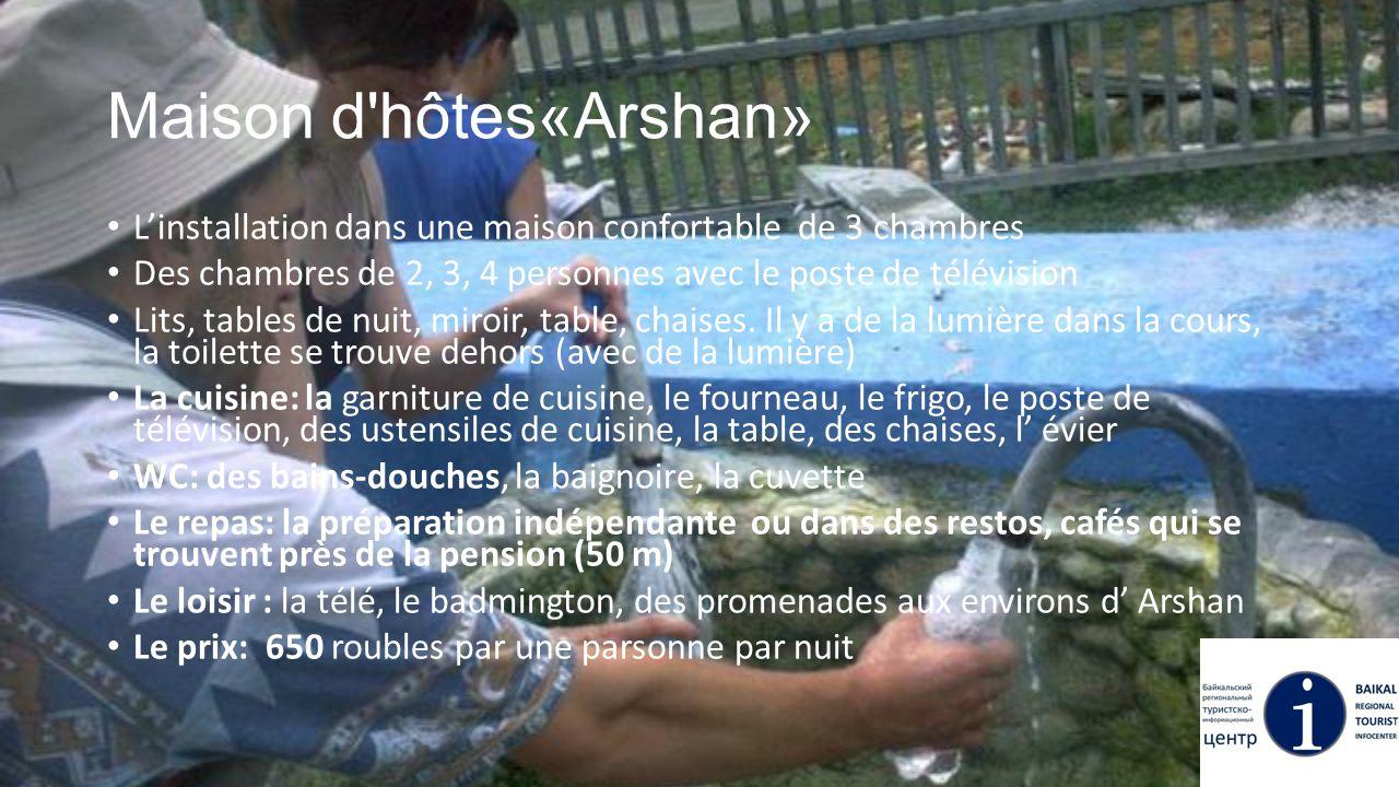 Maison d'hôtes«Arshan» L'installation dans une maison confortable de 3 chambres Des chambres de 2, 3, 4 personnes avec le poste de télévision Lits, ta