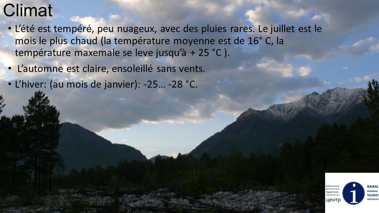Climat L'été est tempéré, peu nuageux, avec des pluies rares. Le juillet est le mois le plus chaud (la température moyenne est de 16° С, la températur