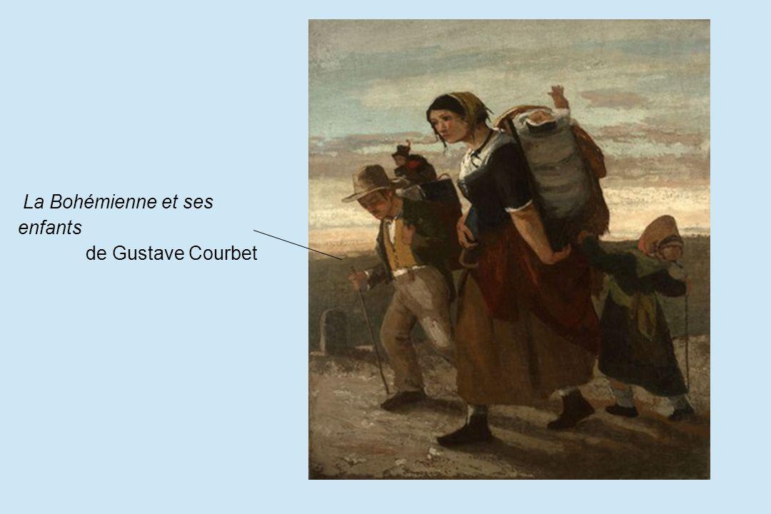 La Bohémienne et ses enfants de Gustave Courbet