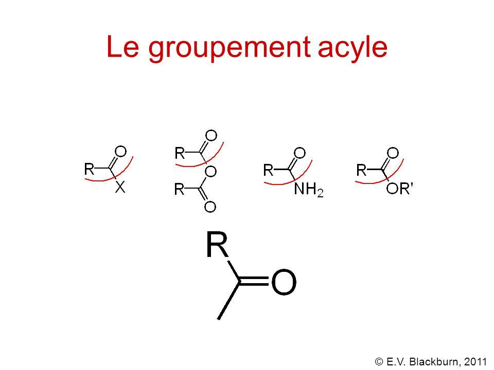 © E.V. Blackburn, 2011 Réactions des chlorures d'acyle avec les réactifs de Gilman