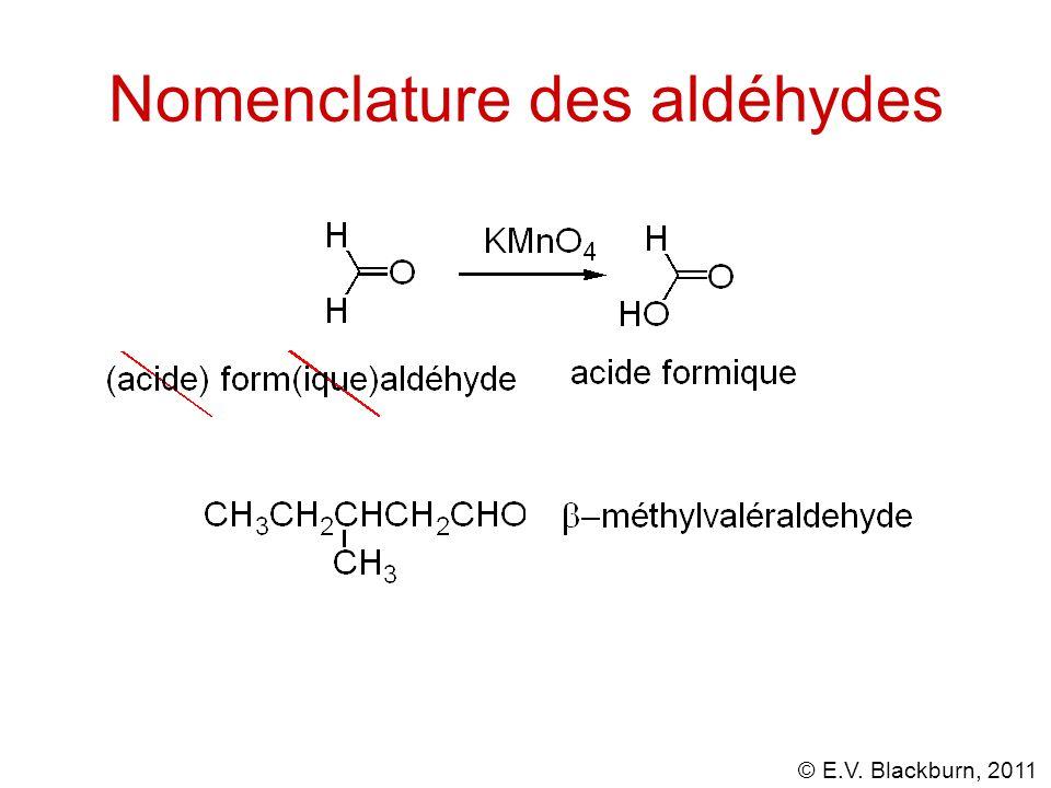 © E.V. Blackburn, 2011 Substitution acyle nucléophile.... Préparation des anhydrides