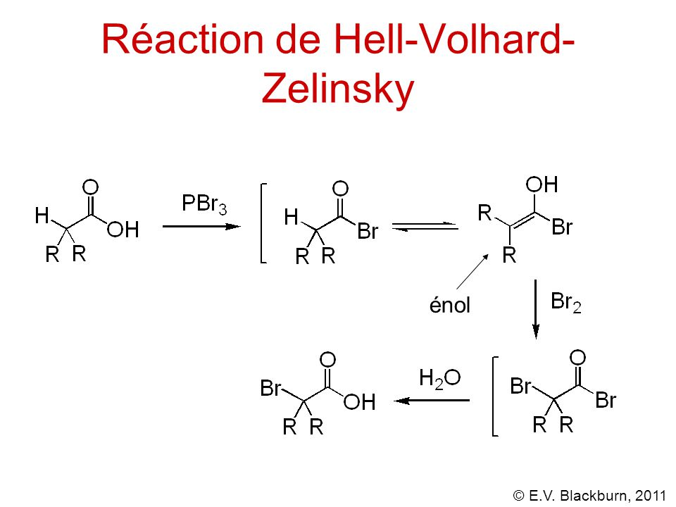 © E.V. Blackburn, 2011 Réaction de Hell-Volhard- Zelinsky énol