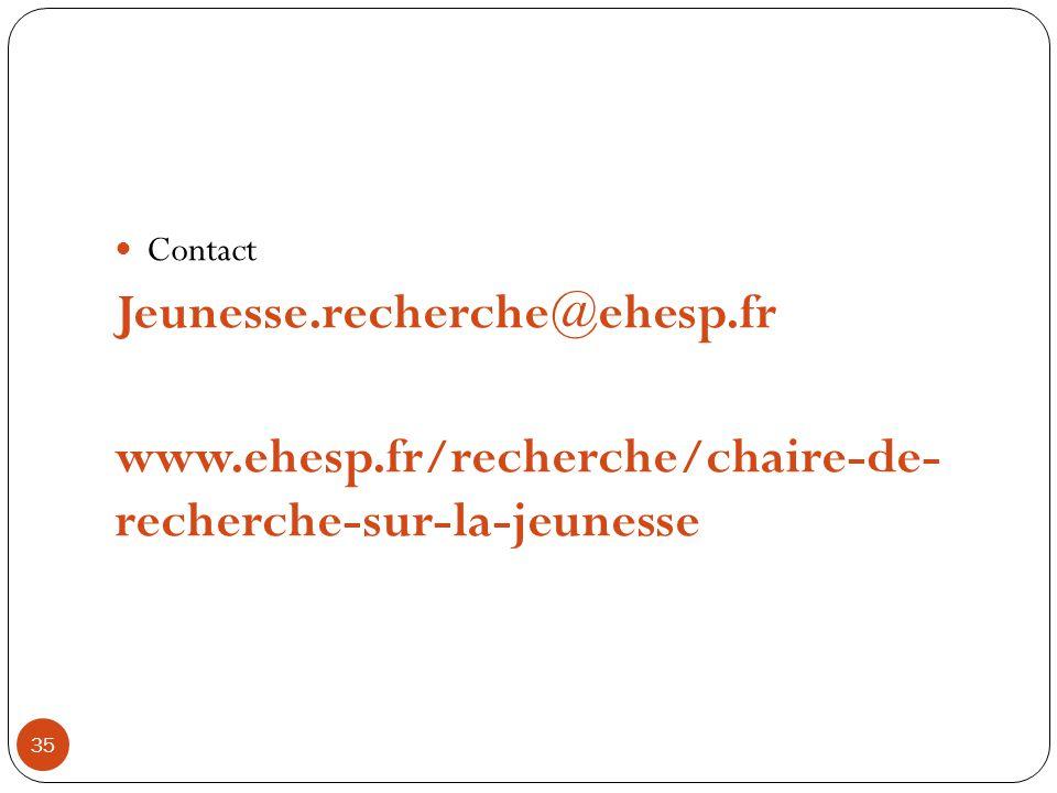 35 Contact Jeunesse.recherche@ehesp.fr www.ehesp.fr/recherche/chaire-de- recherche-sur-la-jeunesse