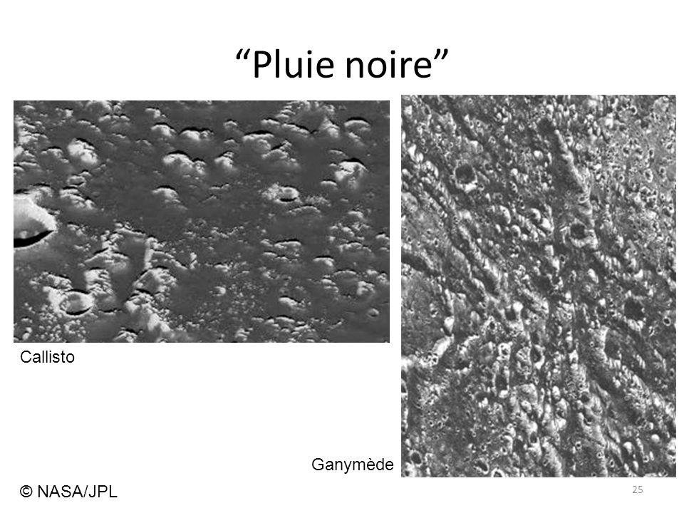 """Pluie noire"" 25 Callisto Ganymède © NASA/JPL"