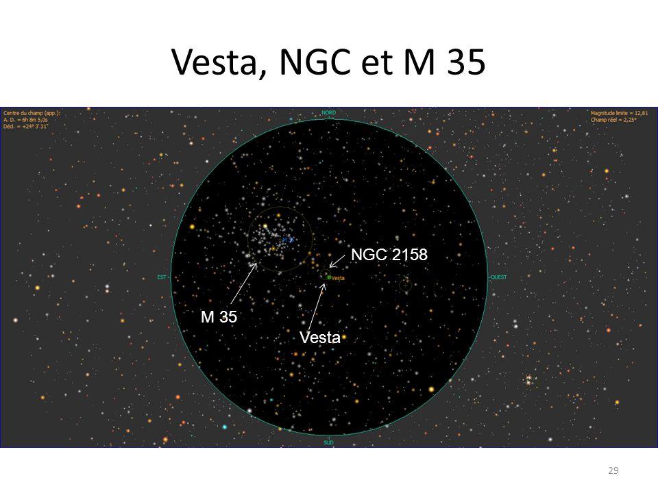 Vesta, NGC et M 35 29 M 35 Vesta NGC 2158
