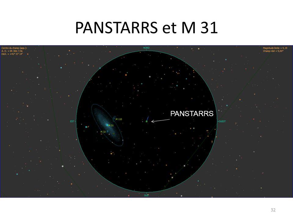 PANSTARRS et M 31 32 PANSTARRS
