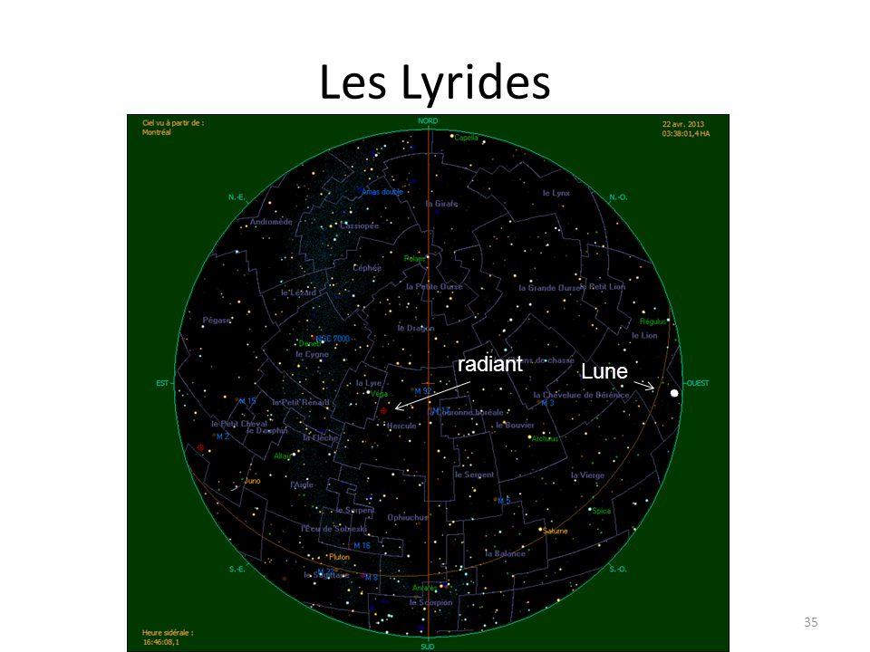 Les Lyrides 35 radiant Lune