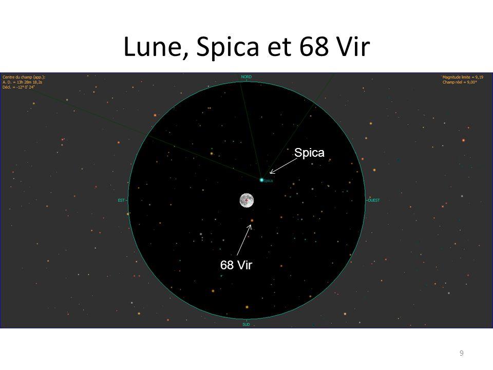 Lune, Spica et 68 Vir 9 Alhena Nu Gem Spica 68 Vir Spica 68 Vir Spica 68 Vir