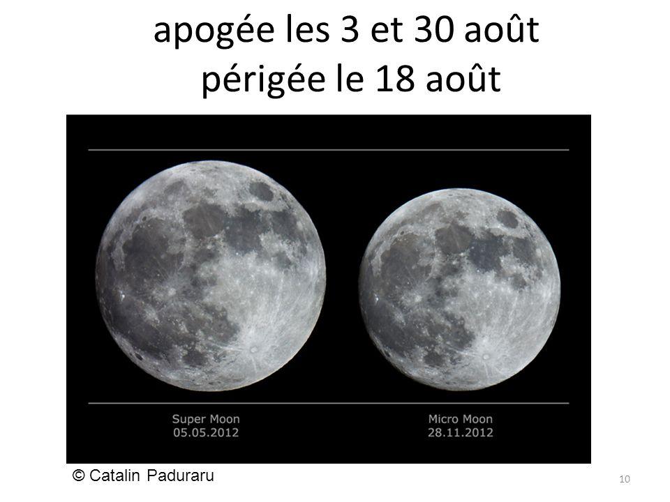 apogée les 3 et 30 août périgée le 18 août 10 © Catalin Paduraru