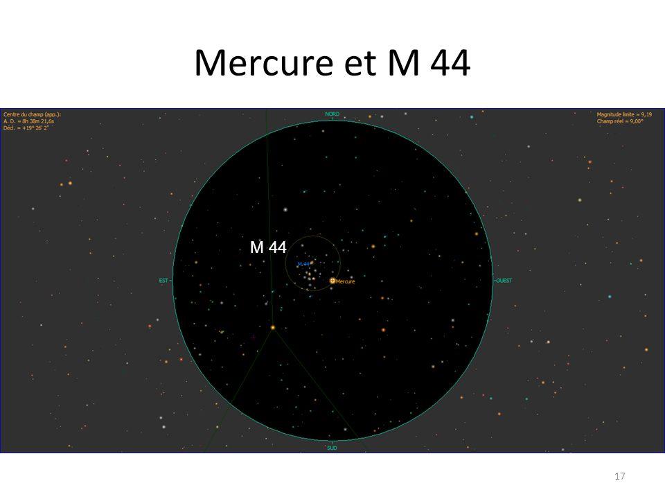 Mercure et M 44 17 M 44