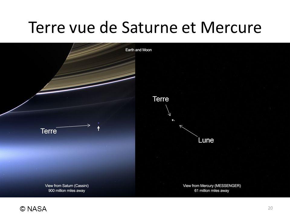 Terre vue de Saturne et Mercure 20 © NASA Terre Lune