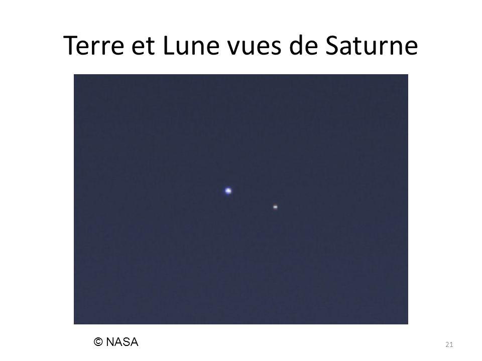 Terre et Lune vues de Saturne 21 © NASA
