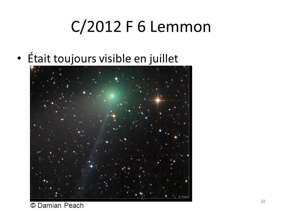 C/2012 F 6 Lemmon Était toujours visible en juillet 28 © Damian Peach