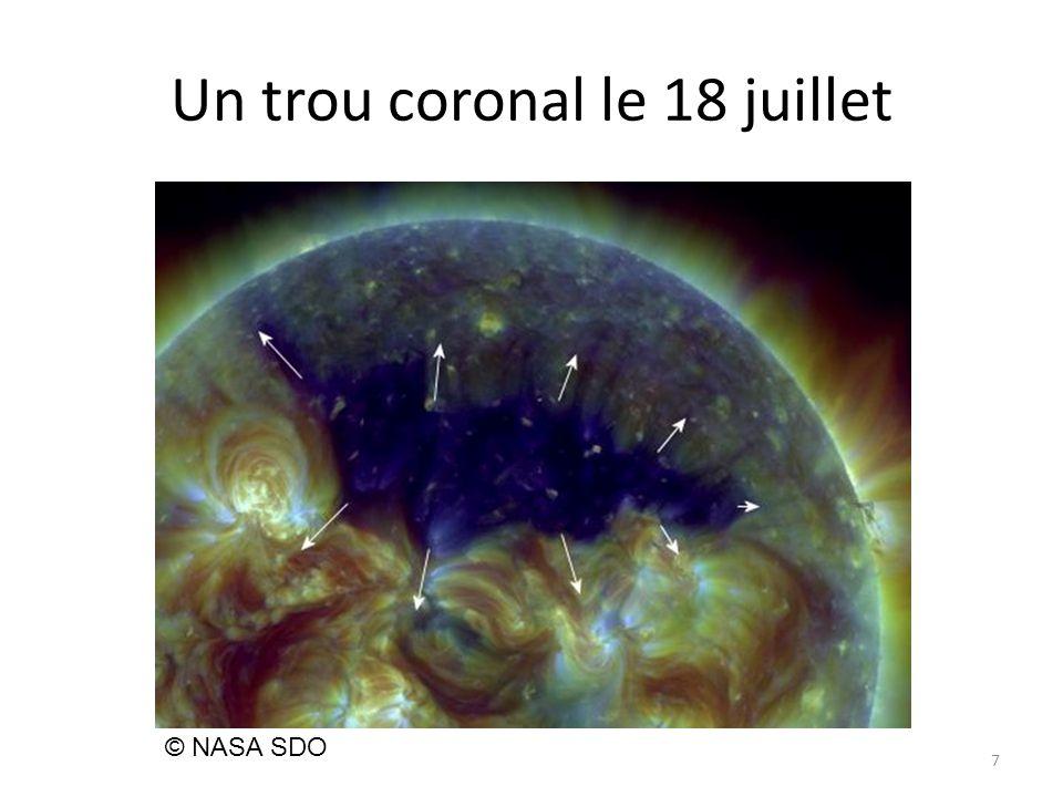 Un trou coronal le 18 juillet 7 © NASA SDO