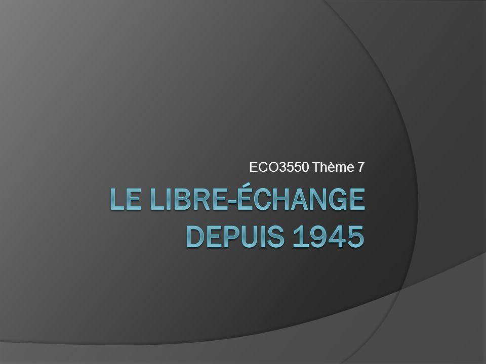 Plan I.Le libre-échange et ses institutions depuis 1945 i.