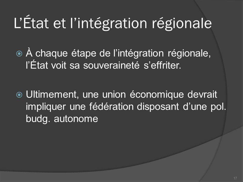 Antinomie des traités internationaux et régionaux : un choix qui reste à faire…  Les négociations multilatérales sont longues et coûteuses, comme le montre le cycle de Doha  Les accords régionaux sont plus aisés en mettre en place, mais leurs effets sur le bien-être sont moins probants  La création de grands blocs régionaux peut freiner les négociations à l'OMC.