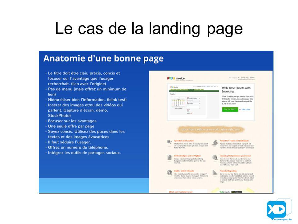 Le cas de la landing page