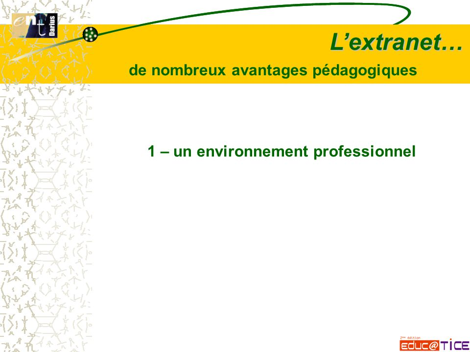 L'extranet… 2 – facilite la co-production un groupe (étudiants, enseignants) réalise une production unique commune