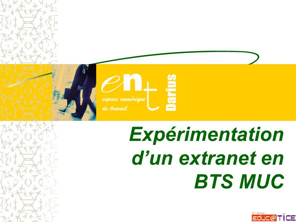 Expérimentation d'un extranet en BTS MUC