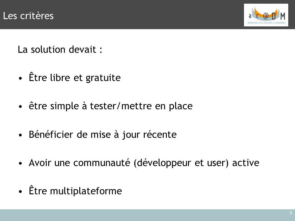 6 Recherche internet : http://www.medfloss.org/ http://www.phuse.eu/ http://nursingassistantguides.com/2009/50-successful-open-source- projects-that-are-changing-medicine/ http://mastersinhealthinformatics.com/2009/25-open-source-software- projects-that-are-changing-healthcare/ http://en.wikipedia.org/wiki/List_of_open_source_healthcare_software Comment trouver cette solution