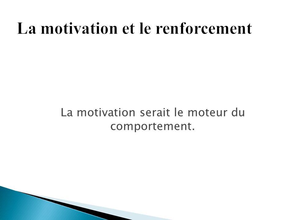 La motivation serait le moteur du comportement.
