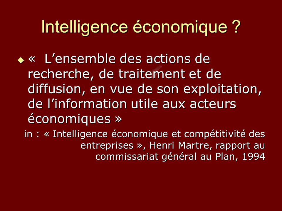 Intelligence économique .