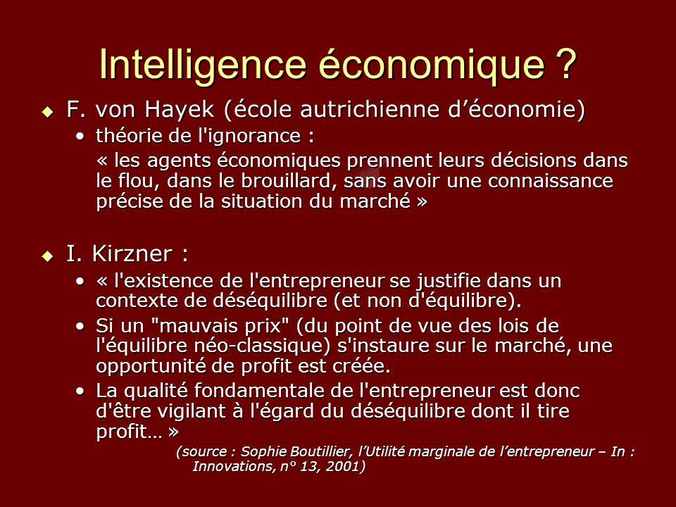 Intelligence économique . F.