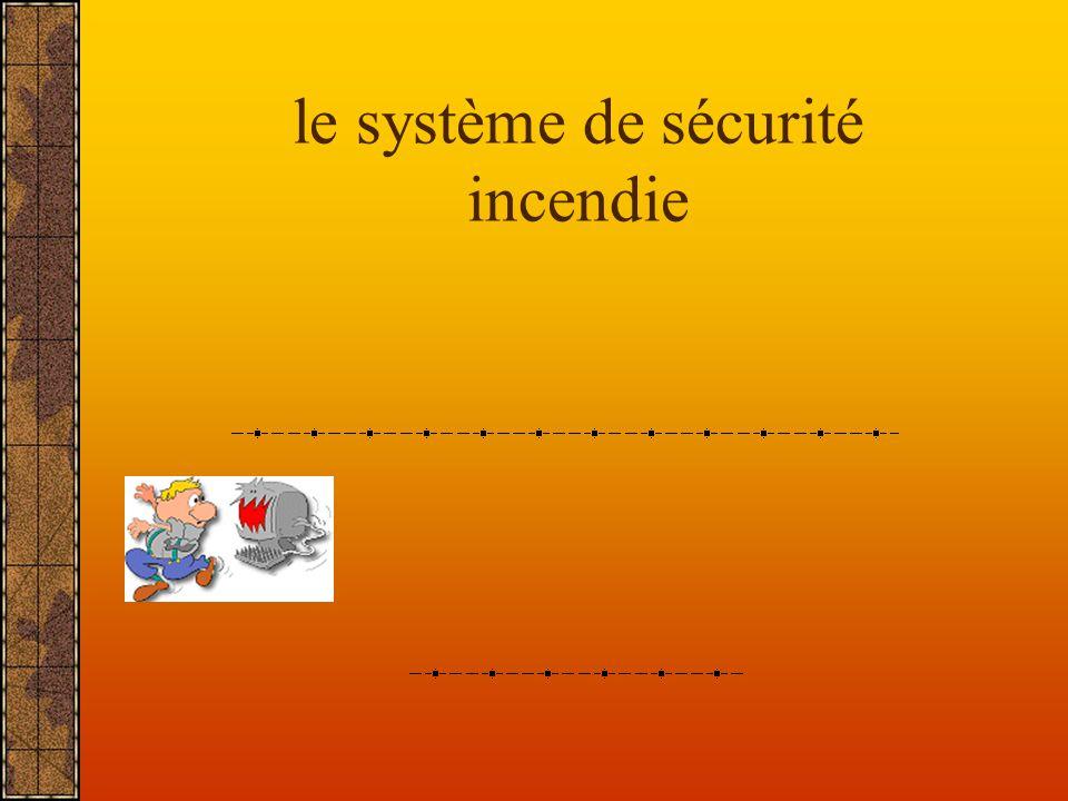 le système de sécurité incendie