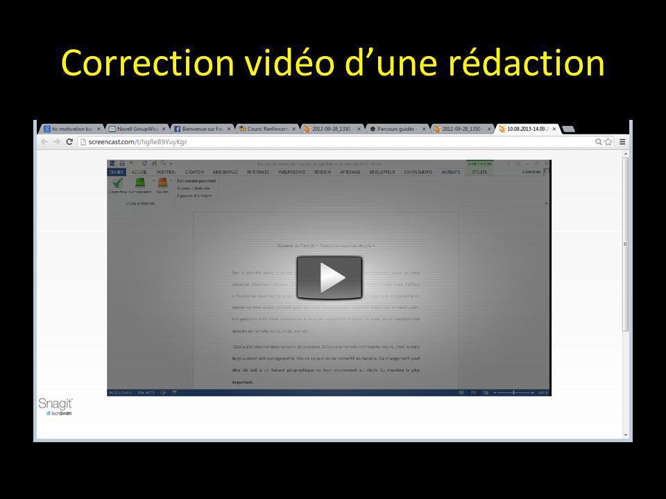 Correction vidéo d'une rédaction