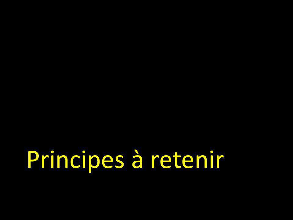 Principes à retenir