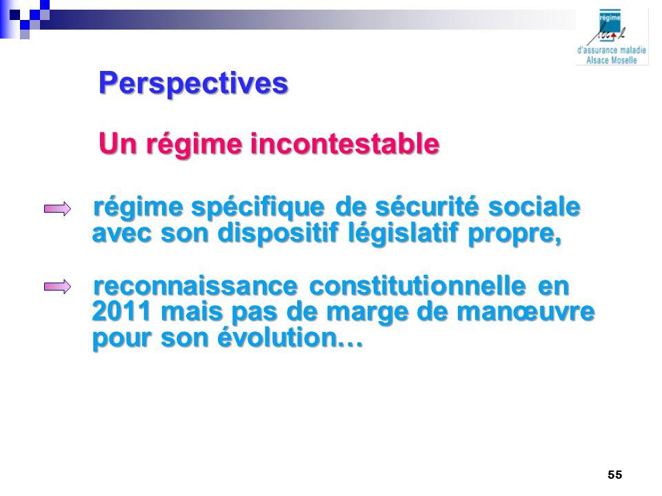 régime spécifique de sécurité sociale avec son dispositif législatif propre, reconnaissance constitutionnelle en 2011 mais pas de marge de manœuvre po