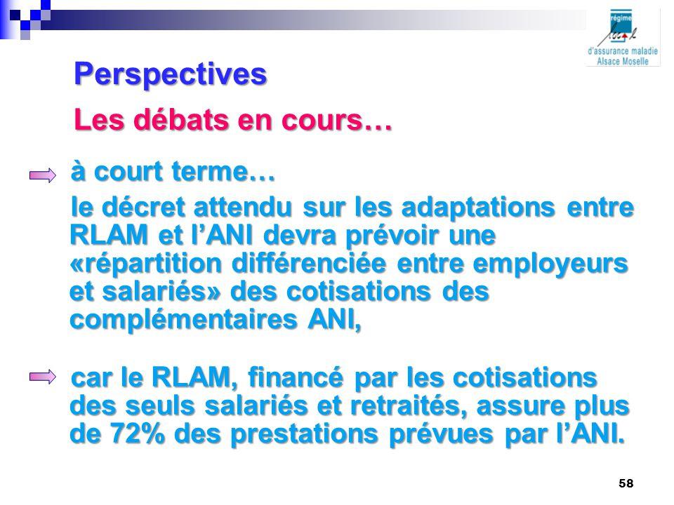 à court terme… le décret attendu sur les adaptations entre RLAM et l'ANI devra prévoir une «répartition différenciée entre employeurs et salariés» des