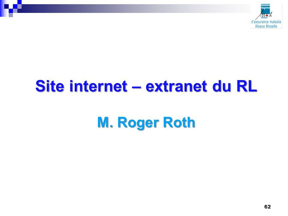 Site internet – extranet du RL M. Roger Roth 62
