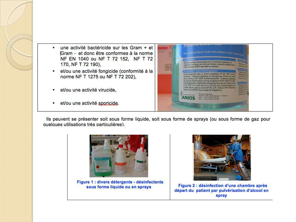 c/ matériels pour les opérations de nettoyage - désinfection Matériel utile à proximité de la zone où a lieu le nettoyage et/ ou la désinfection, ◦ regroupé sur un chariot dont l'organisation doit être rigoureuse ◦ Ou situé au niveau de la centrale de nettoyage / désinfection.