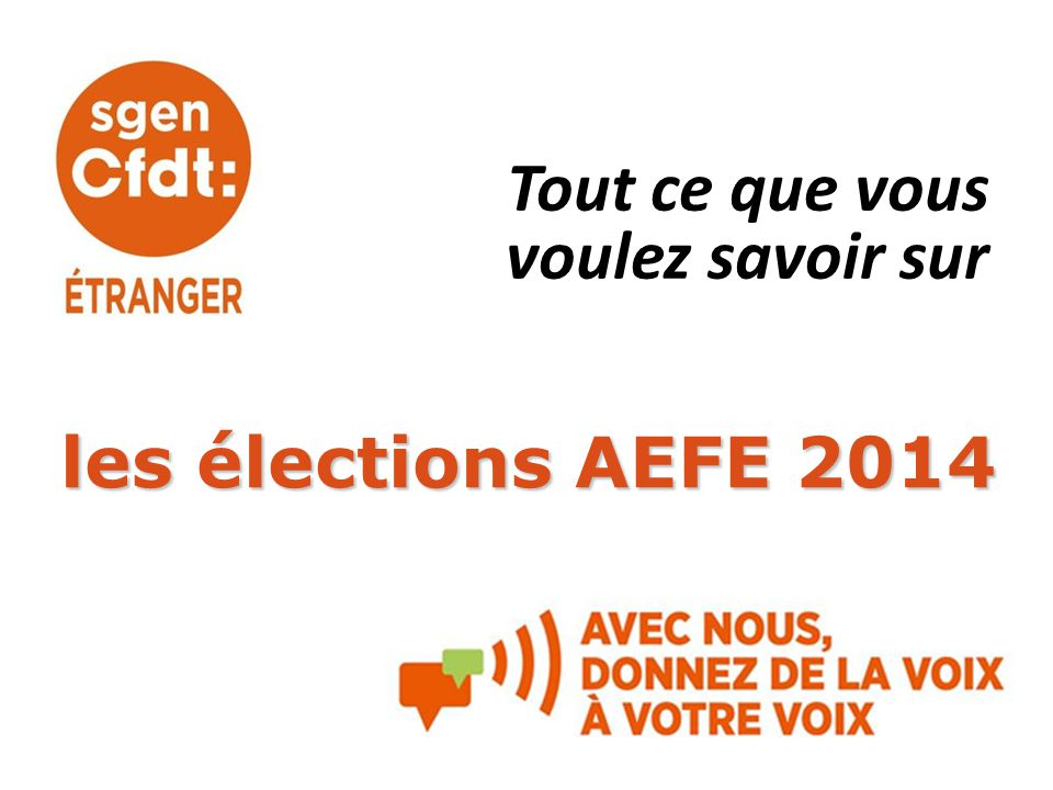 Tout ce que vous voulez savoir sur les élections AEFE 2014