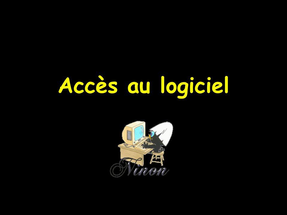  La fenêtre d accès à LOGOS_w s ouvre automatiquement lors du lancement du logiciel