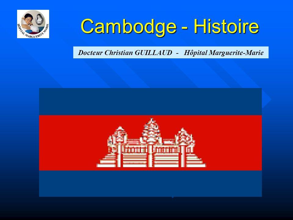 Gloire d'Angkor 802~835: Jayavarman II, roi-dieu, capitale près d'Angkor (Hariharalaya-Roluos) 877-889 : Empire khmer unifié (Indravarman Ier), vaste système d'irrigation 889-910 : 1ére Angkor (Suryavarman II), conquête d'1 partie du royaume du Champa) 1177 : pillage d'AGK par les Cham