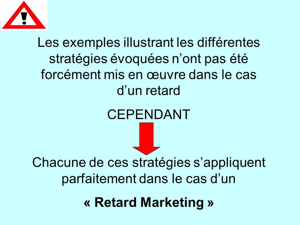 Saturer le marché (écoeurement) La rumeur L'encerclement Eliminer le concurrent Multiplier les produits Saturer les supports de communication Exemple Bonduelle