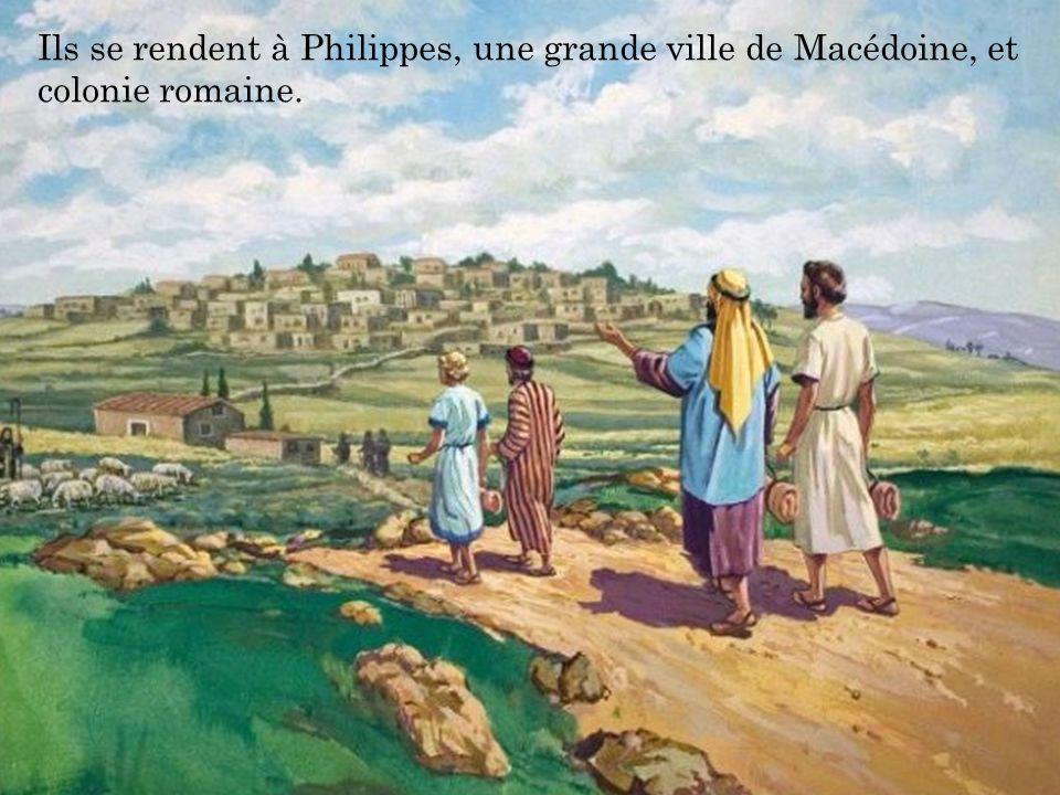 Ils se rendent à Philippes, une grande ville de Macédoine, et colonie romaine.