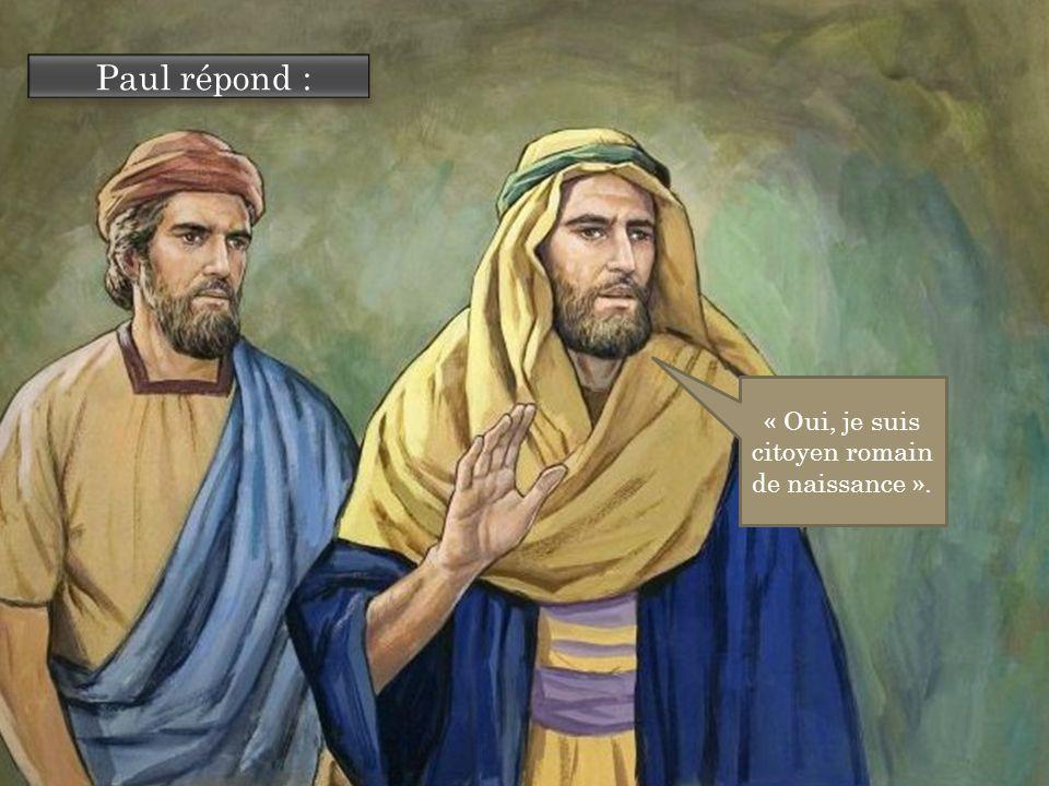 Paul répond : « Oui, je suis citoyen romain de naissance ».