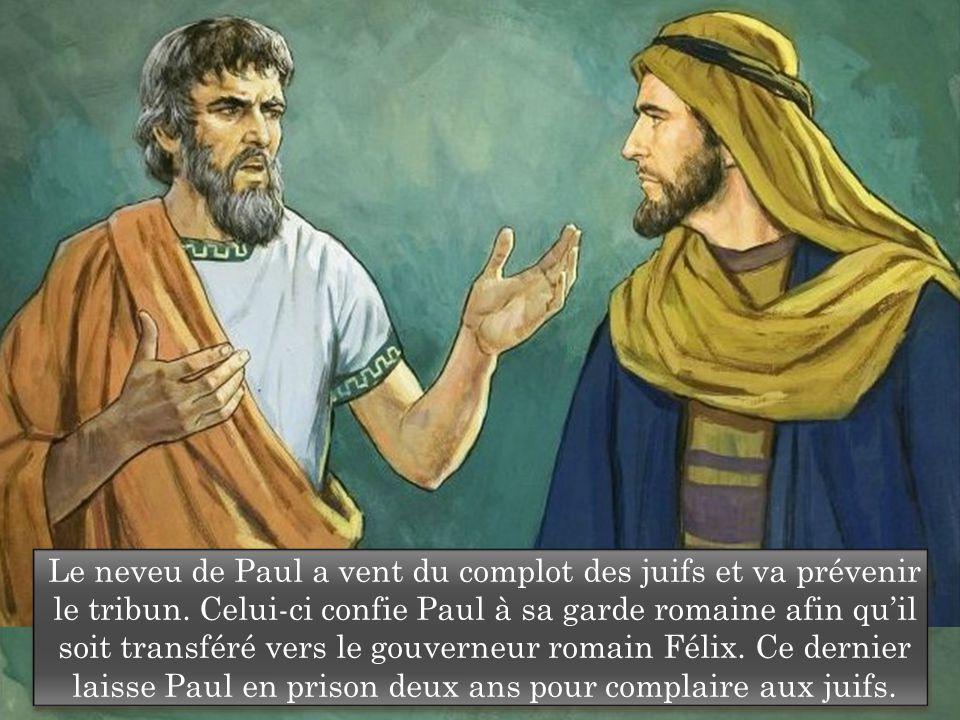 Le neveu de Paul a vent du complot des juifs et va prévenir le tribun.